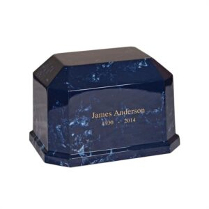 10. Navy Blue Marble Urn 399